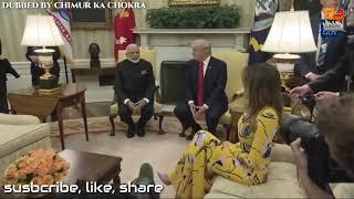 Narendra Modi & Donald Trump Funny Marathi Dubbed Video