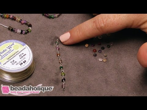 How To Make Your Own Gemstone Chain With Wrapped Wire Loops
