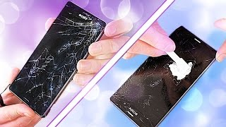 Fixing a Smashed Phone Screen - on a budget! (GLASS ONLY REPAIR ATTEMPT) thumbnail