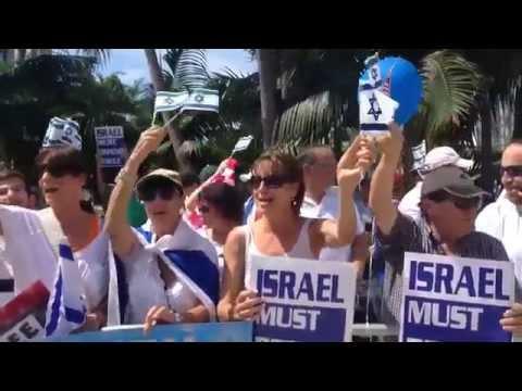 Pro Israel Rally   Miami Beach   Florida