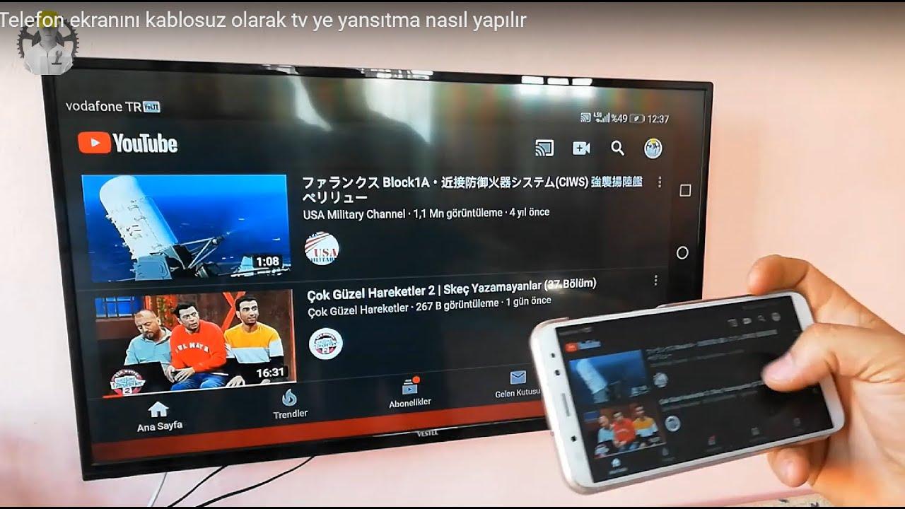 Telefon ekranını kablosuz olarak tv'ye yansıtma || Telefonu televizyona bağlama