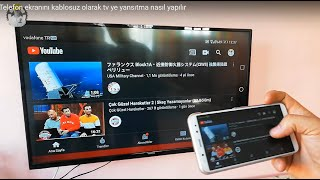 Telefon Ekranını Kablosuz Olarak Tv'ye Yansıtma || Projecting The Phone Screen To The TV Wirelessly
