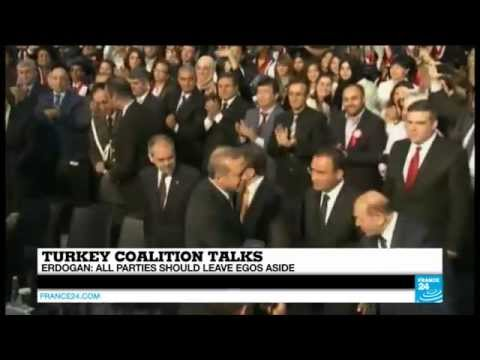 TURKEY - Erdogan breaks silence to call for coalition government