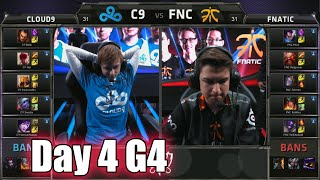 Cloud 9 vs Fnatic | Day 4 Game 4 Group B LoL S5 World Championship 2015 | C9 vs FNC D4G4
