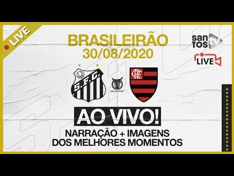 🔴 AO VIVO: SANTOS 0 X 1 FLAMENGO | BRASILEIRÃO (30/08/20)