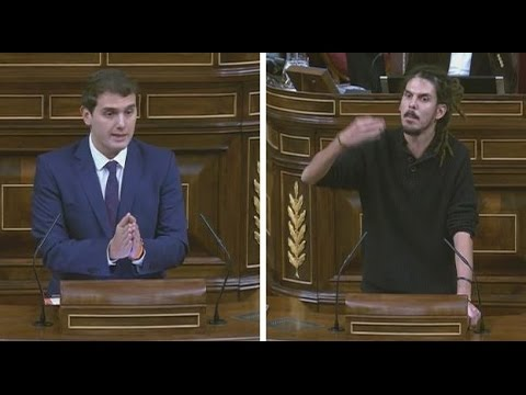 ALBERTO RODRÍGUEZ Podemos zasca BRUTAL a ALBERT RIVERA en el Congreso 29112016
