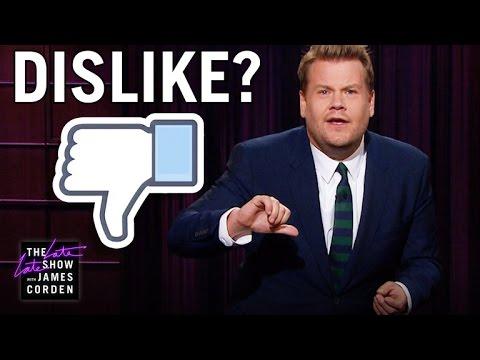James Dislikes The Facebook Dislike Button