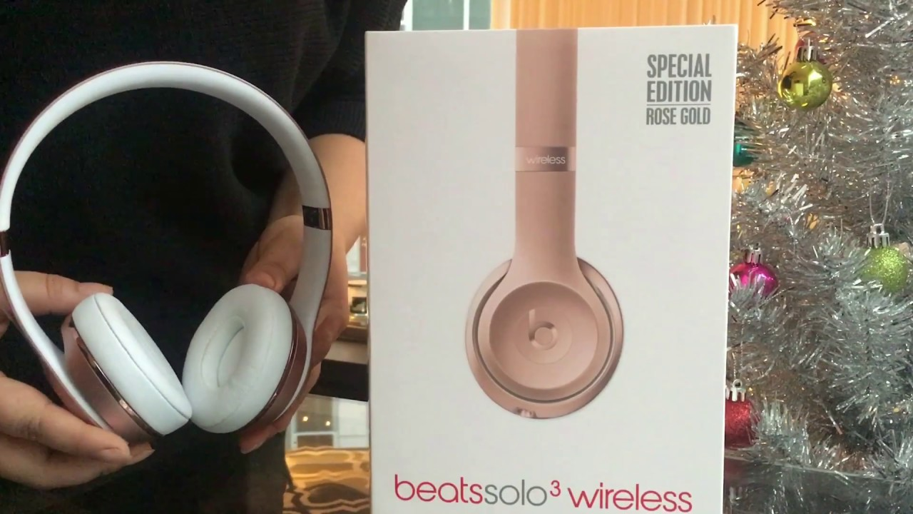 9bae77b14cb Beats Solo 3 Wireless Unboxing | Special Edition: Rose Gold - YouTube