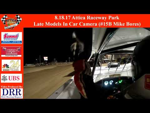 8.18.17 Attica Raceway Park Late Models In Car