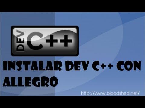 Instalación de la librería allegro.h en dev c++ [ Tutorial en español y HD ]