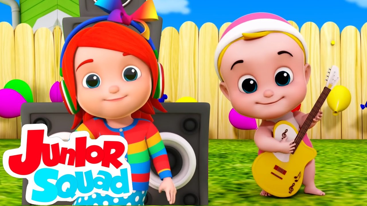 Bebê rindo | Desenhos animado | Canção infantil | Junior Squad Português | Vídeos educativos