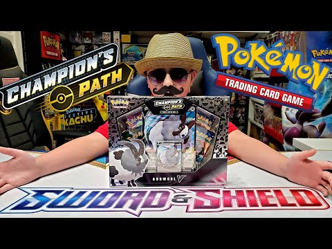 POKEMON SENT US THIS UNBELIEVABLE DUBWOOL V COLLECTION BOX! New Pokemon Cards Champions Path Opening |