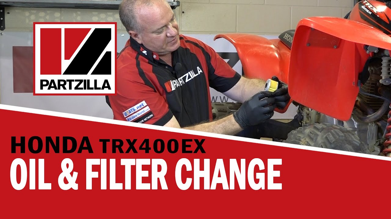 How To: Honda ATV Oil Change & Oil Filter Change - TRX | Partzilla ...