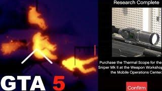 GTA 5 THERMAL SCOPE BEST SNIPER 50 CAL GUNRUNNING DLC