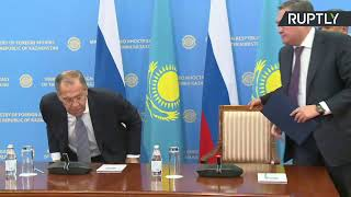 Лавров и глава МИД Казахстана подводят итоги переговоров — LIVE