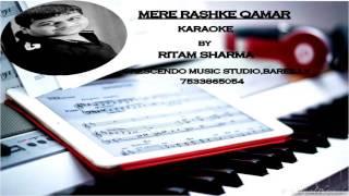 MERE RASHKE QAMAR(HQ)KARAOKE BY RITAM SHARMA