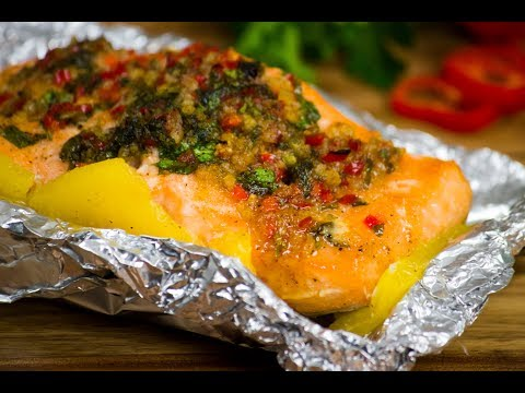 Honey Garlic Salmon and Pineapple Foil Packets