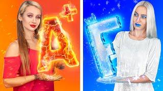 Hot vs Cold Challenge / Teacher on Fire vs Icy Teacher
