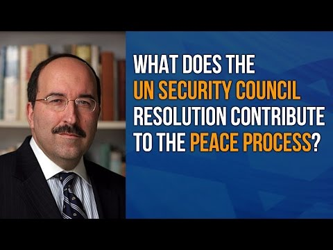 What does the December 23, 2016 UN Security Council Resolution contribute to the peace process?