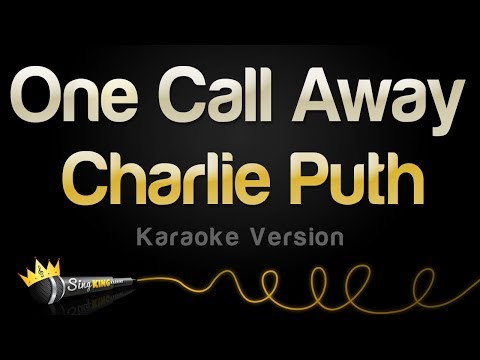 Charlie Puth  One Call Away Karaoke Version