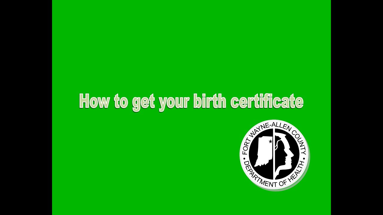 How to get a copy of your birth certificate - YouTube