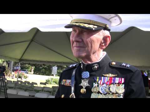 Medal of Honor recipient Major General Livingston on Veterans Day