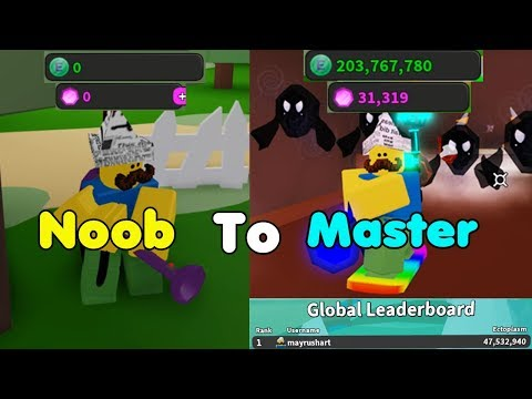 Noob To Master! Got Best Vacuum & Pack! 1st Leaderboard! Unlocked All Area! - Ghost Simulator Roblox