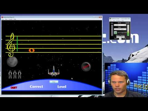 Staff Wars Two Fingering Trainer for PC/Mac- Music Ed Minute E11