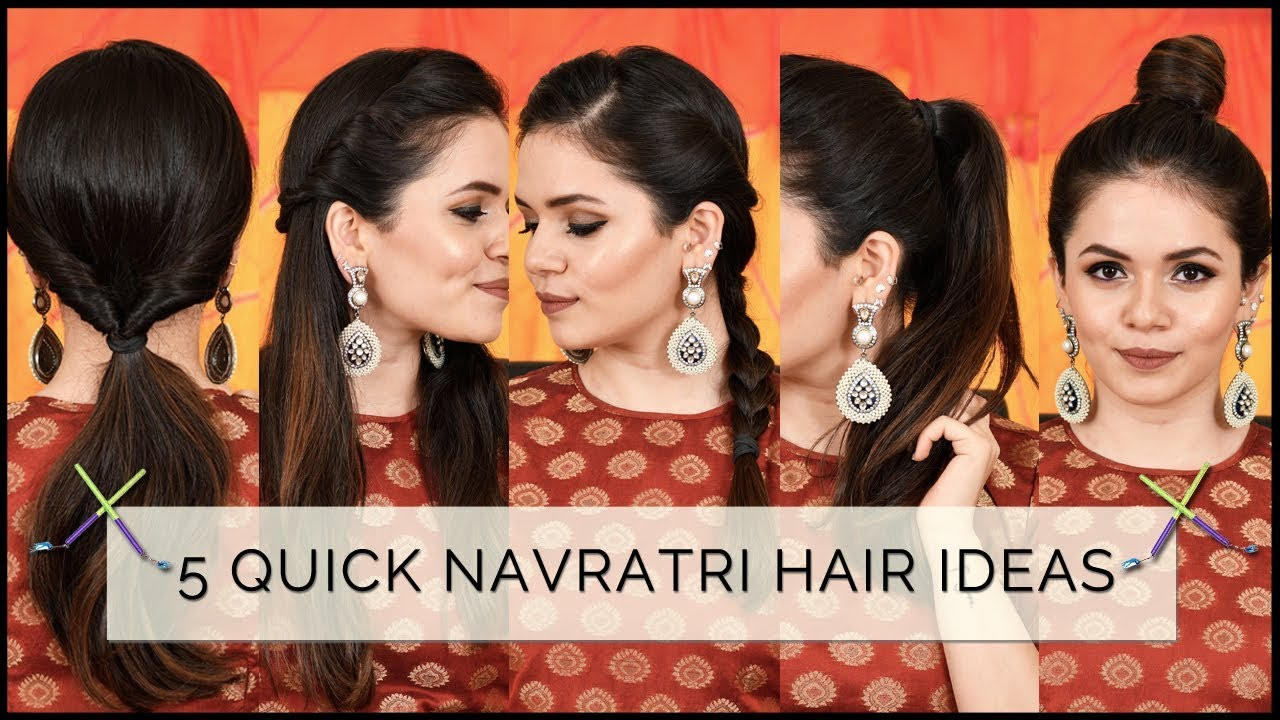 10 Quick & Easy Hairstyles (HEATLESS) for Navratri  Heena Somani