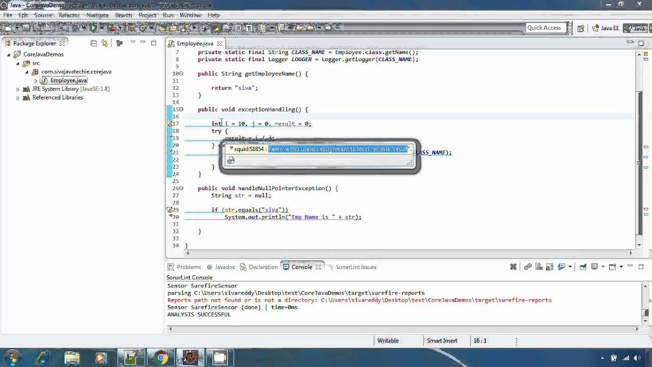 SonarLint Eclipse Integration & usage Session2