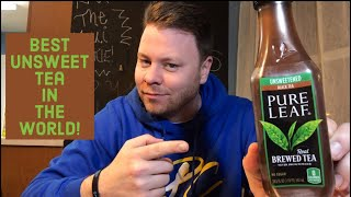 Pure Leaf Unsweetened Tea Drink Review! NO SUGAR NEEDED