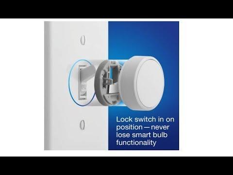 Lutron Aurora Smart Bulb Dimmer Switch for Philips Hue smart bulbs, Z3-1BRL-WH-L0, White
