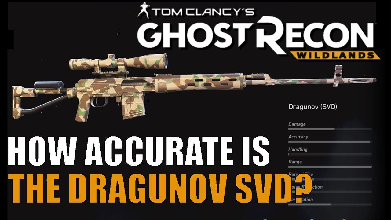 GHOST RECON WILDLANDS Dragunov SVD Bullet Drop and Sniper Scope Accuracy
