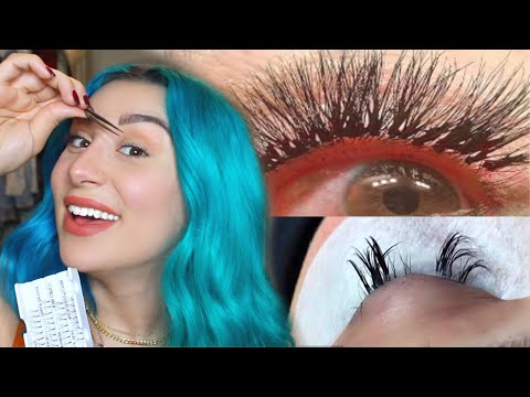 I TRIED GIVING MYSELF EYELASH EXTENSIONS @ HOME *NEVER TRY THIS*