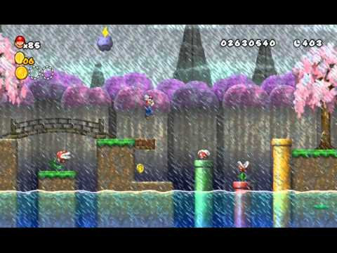 Newer Super Mario Bros Wii # World 4-7 Thunder Bridge