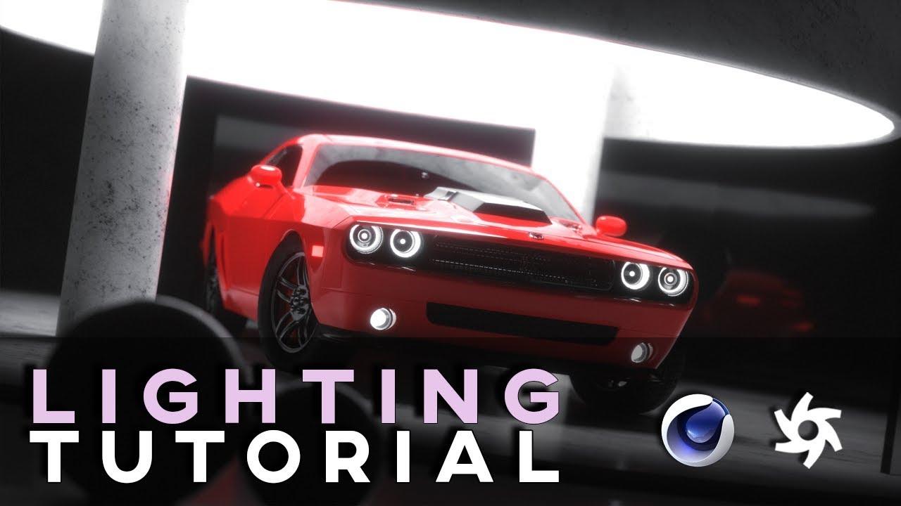 Cinema 4D – Dodge Challenger Showroom Lighting with Octane