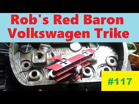 RB-VW Trike #117: Tank Ends, Handlebar finish Welding and Shifter Tuning!