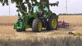 Gersten Ernte u. Bodenbearbeitung 2015 auf einen Streich Teil 1.