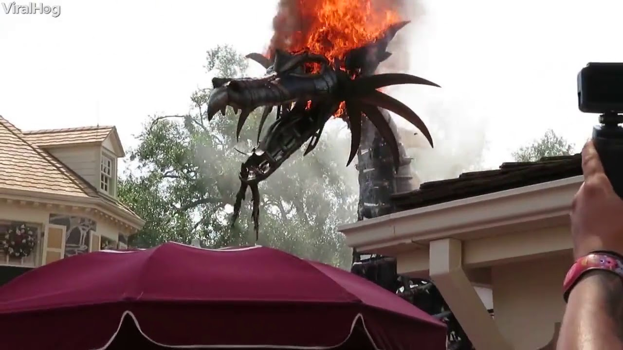 Fantasy Parade Dragon Catches Fire At Theme Park