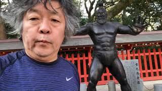 YouTube動画:旅ラン。博多駅近辺から住吉神社へ。