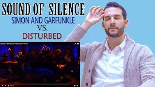 VOCAL COACH reacts to DISTURBED vs SIMON & GARFUNKEL singing SOUND OF SILENCE