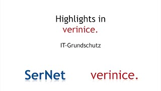 Highlight: IT-Grundschutz mit verinice