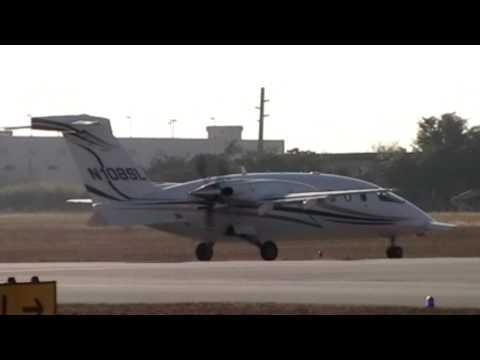 Piaggio P-180 Avanti prep/engine start up/taxi/and take off