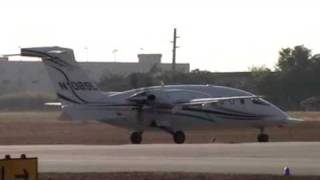 Piaggio P-180 Avanti prep/engine start up/taxi/and take off