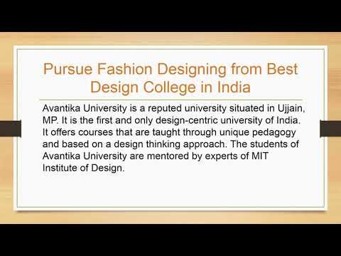 Best Fashion Designing Colleges In India Avantika University Youtube