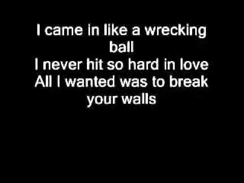 Miley Cyrus   Wrecking Ball Con letra original