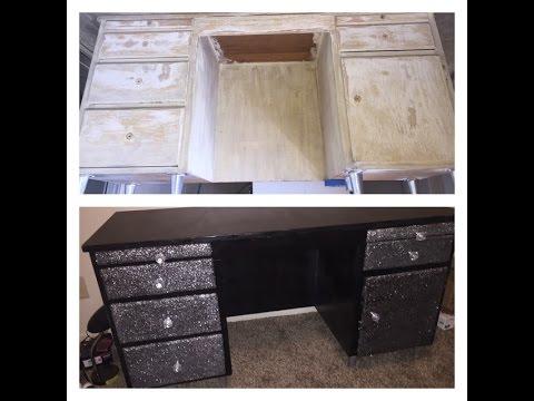 DIY Glitter Dresser!! - YouTube