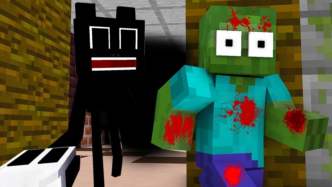 Monster School : ZOMBIE VS CATROON CAT CHALLENGE - Minecraft Animation