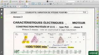Variateur de vitesse 1. Moteur 2 vitesses et câblage avec API