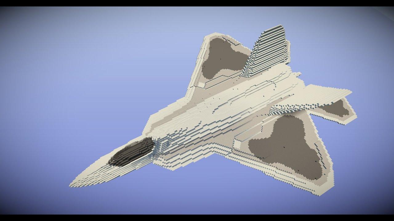 Minecraft Timelapse F 22 Raptor Youtube